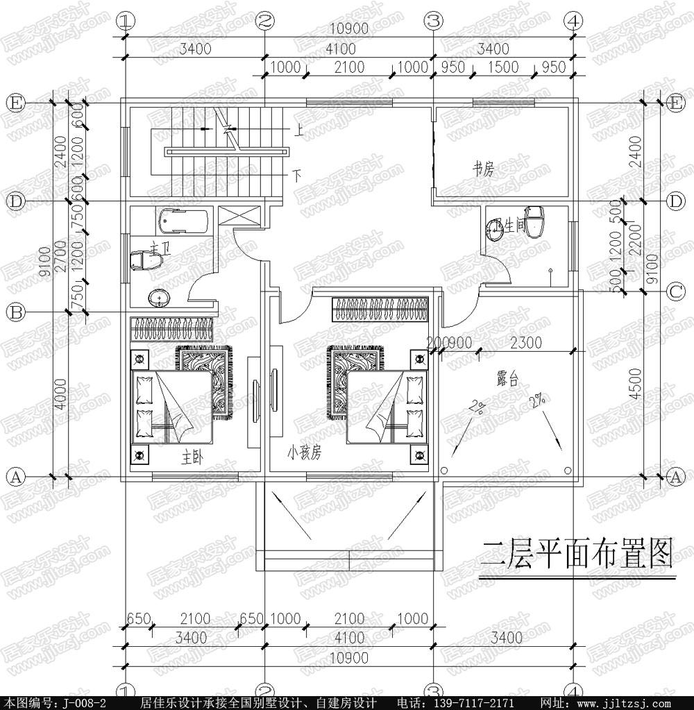 农村自建房二层别墅设计图纸-居佳乐图纸设计-居佳乐