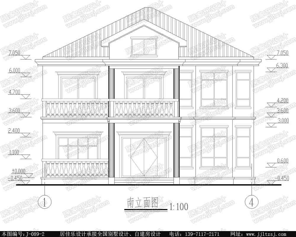 新农村自建豪华小别墅设计图,12.4x13.2米,18-24万