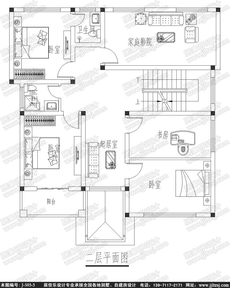 140平方米三层漂亮小别墅设计图-三层自建别墅设计图-10.9x13米