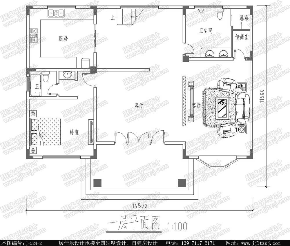 二层欧式小别墅设计图一层平面图