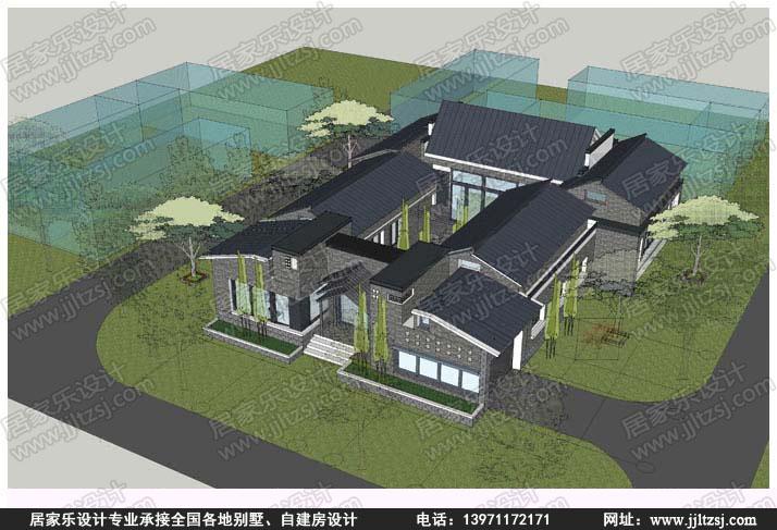 新中式四合院-一层四合院书籍设计-设计案例-居ui设计相关房屋交互图片