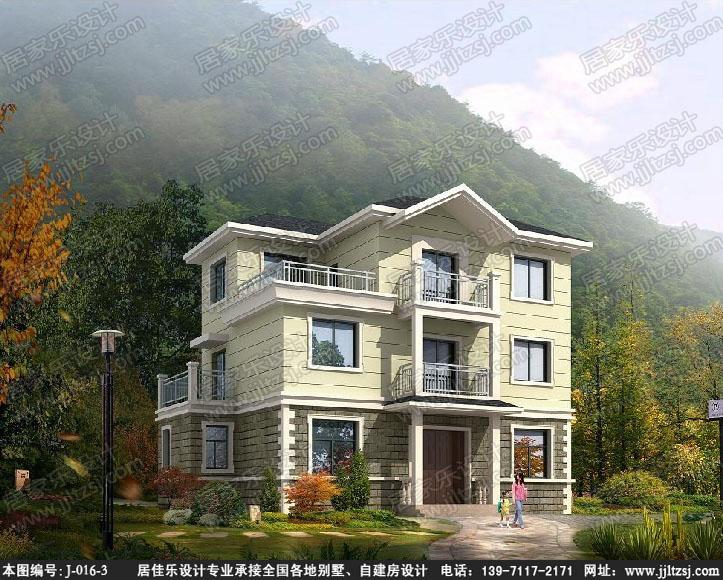 新农村三层自建房别墅设计施工图(带露台坡屋顶)