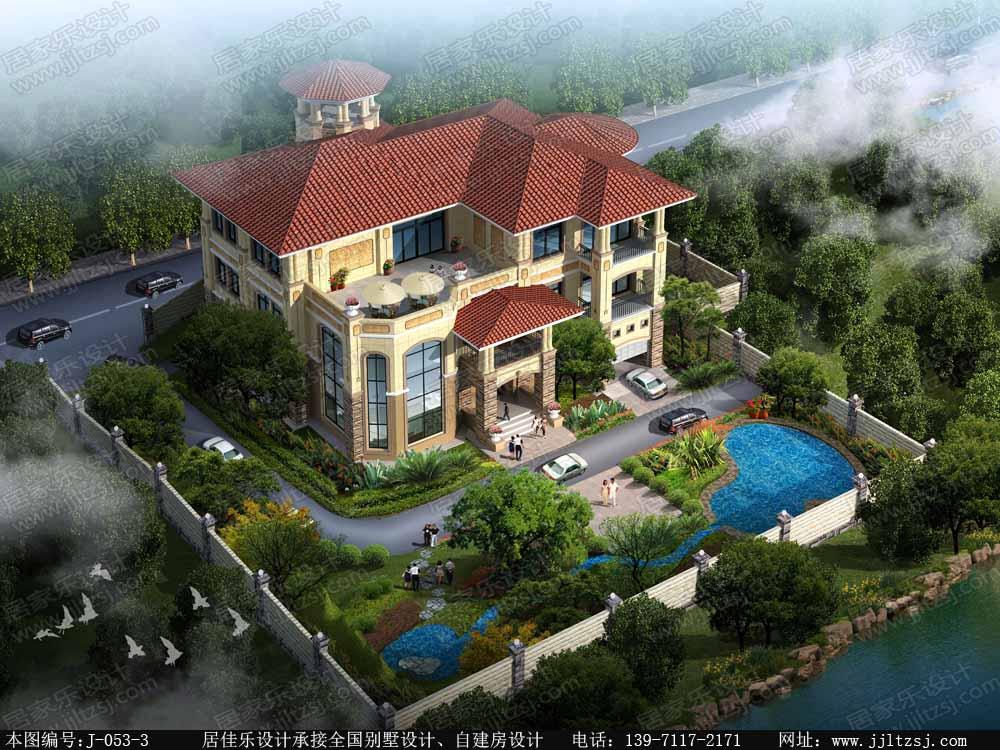 豪华型新农村三层自建房别墅设计施工图