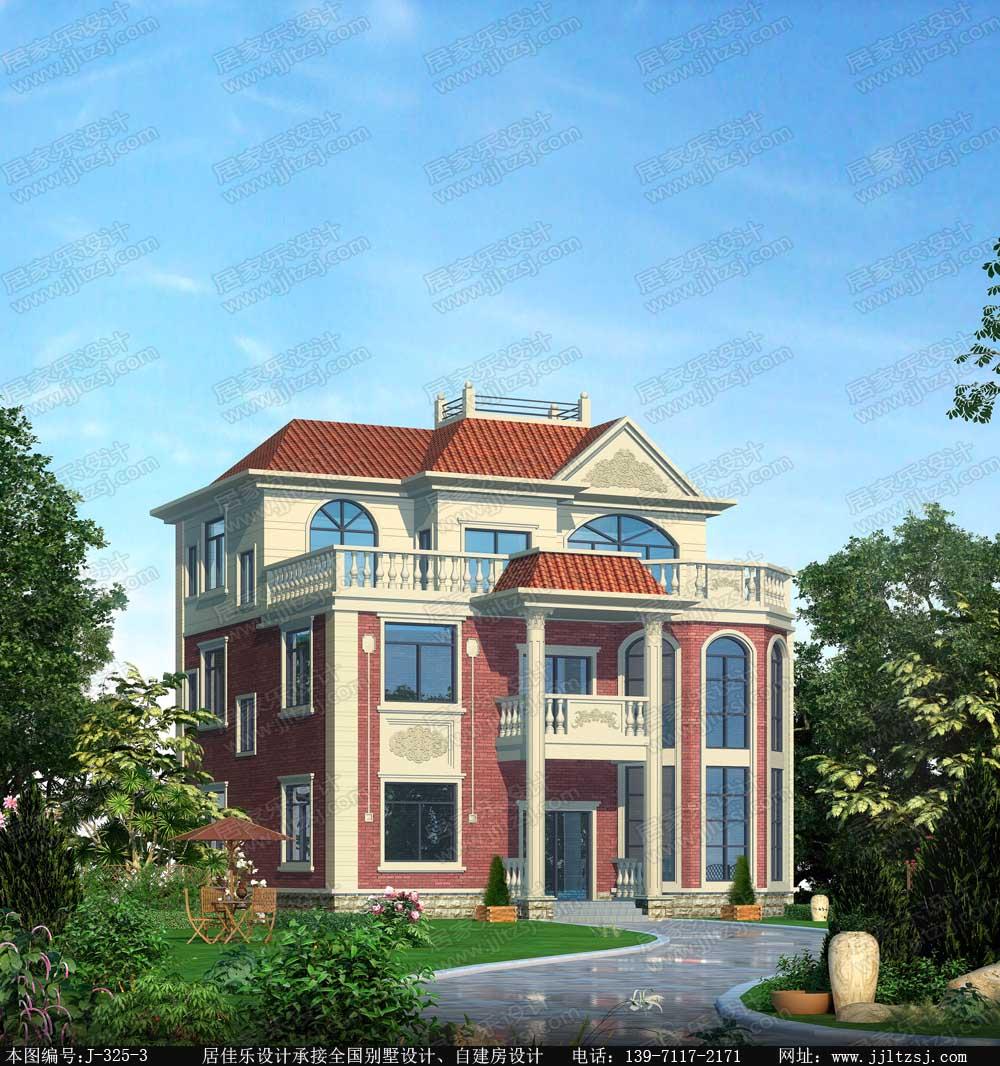320平米三层漂亮别墅设计图,11.92x12.5米,19-26万