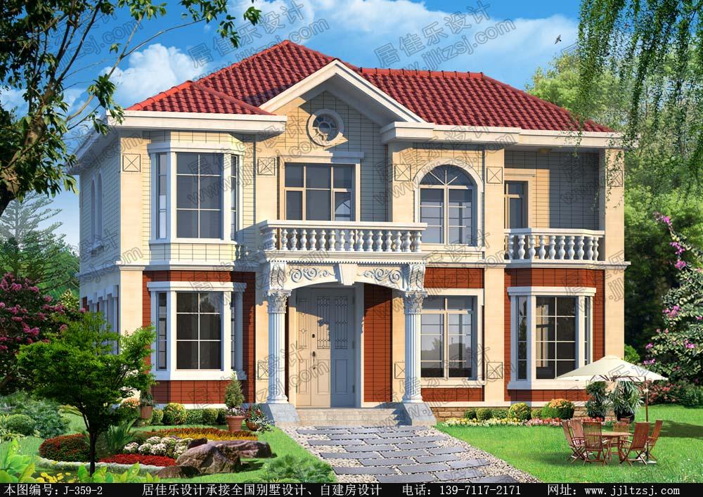 160平米漂亮带露台二层别墅设计图(户型好),15x10.6米