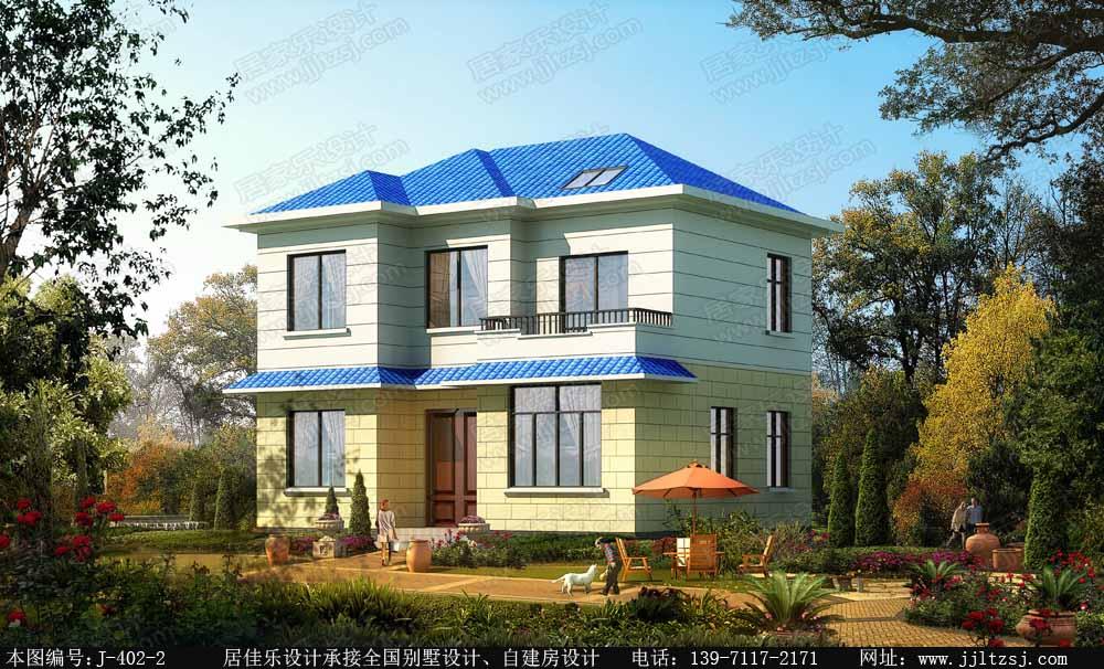 81平方米二层精致农村小别墅设计图