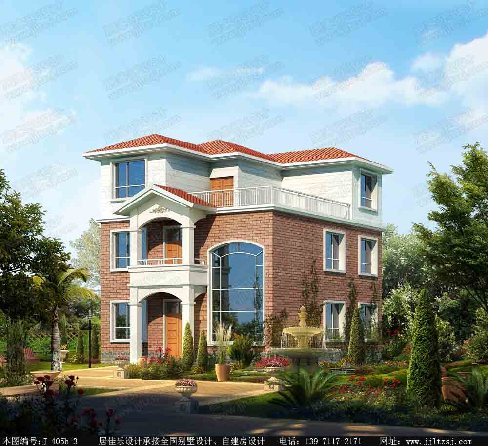 125平方米三层精致农村房屋设计图