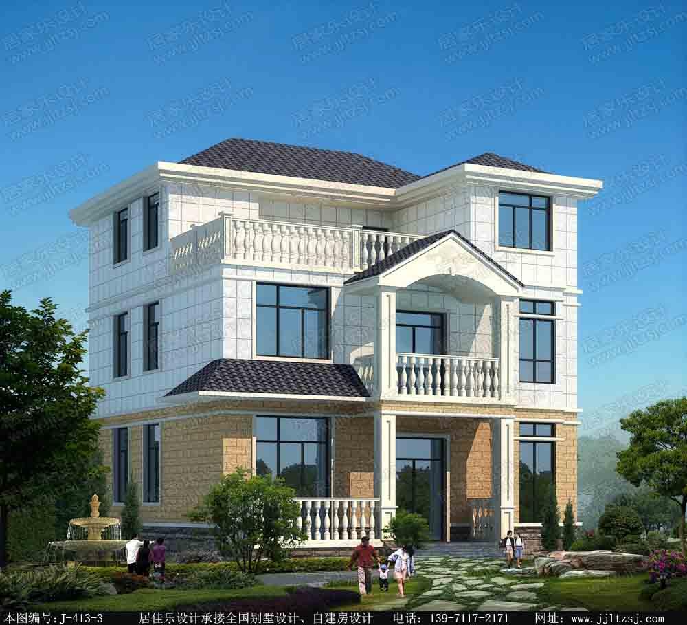 112平方米农村三层小别墅设计图-10.5x11.