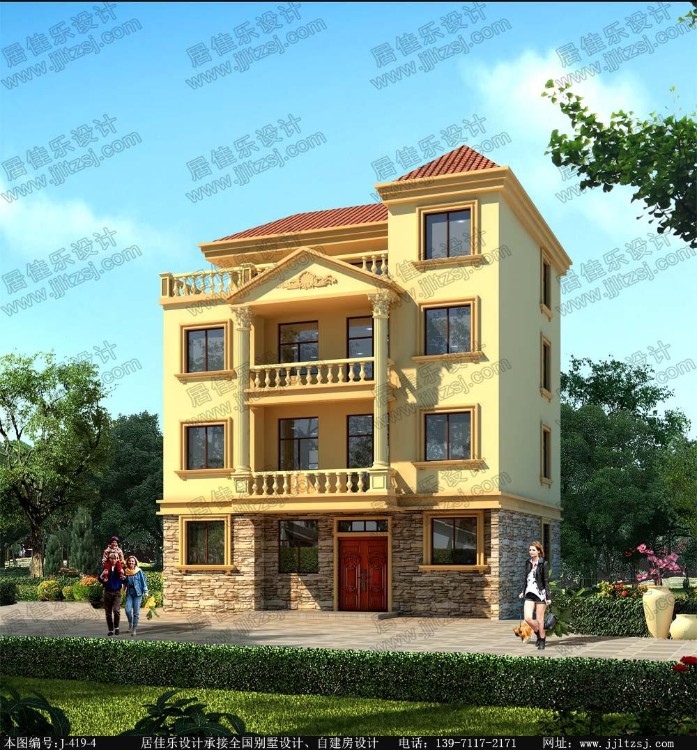 111平米四层小别墅设计图,11.8x10米,25-33万