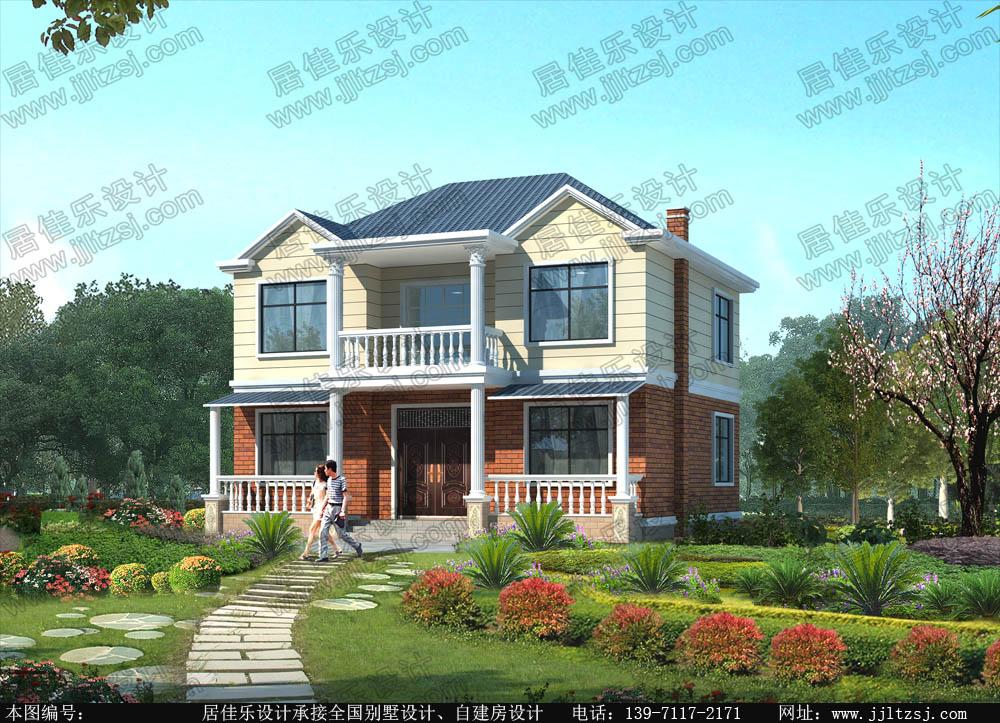 115平米二层别墅设计图-二层房屋设计图,11.7x12.03米