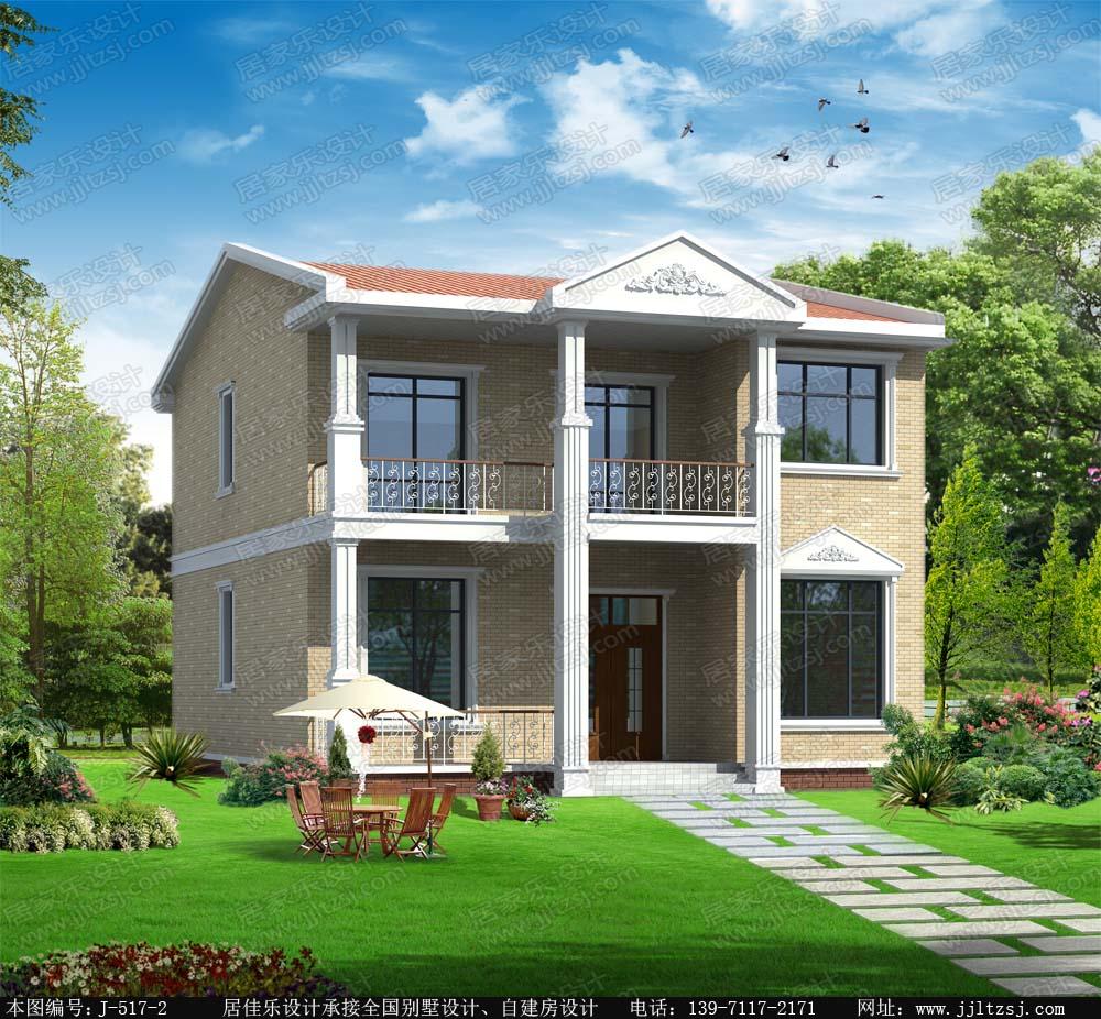 120平米二层小别墅设计图,10x12.6米,14-19.5万造价