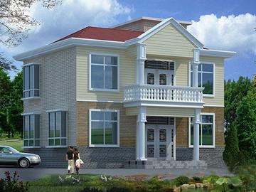新农村二层带阁楼小别墅施工设计图