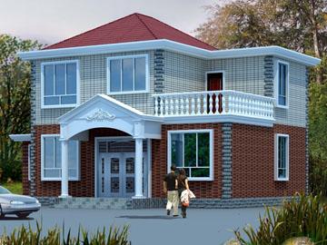 100平米新农村二层自建房别墅施工设计图带露台