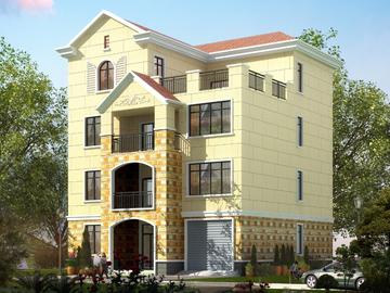 新农村四层带车库(带露台)自建别墅设计图
