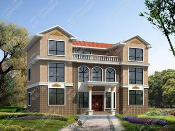 三层新农村带露台自建房设计图