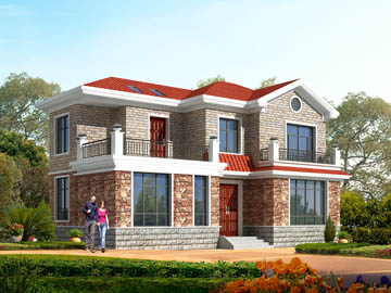 116平米二层别墅设计图,14X9.2米,12 16万造价