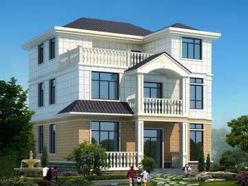 112平方米农村三层小别墅设计图