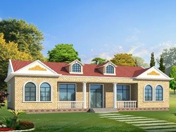 农村三合院小别墅设计图展示图片