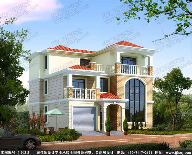 140平方米三層漂亮小別墅設計圖-三層自建別墅設計圖-10.9x13米