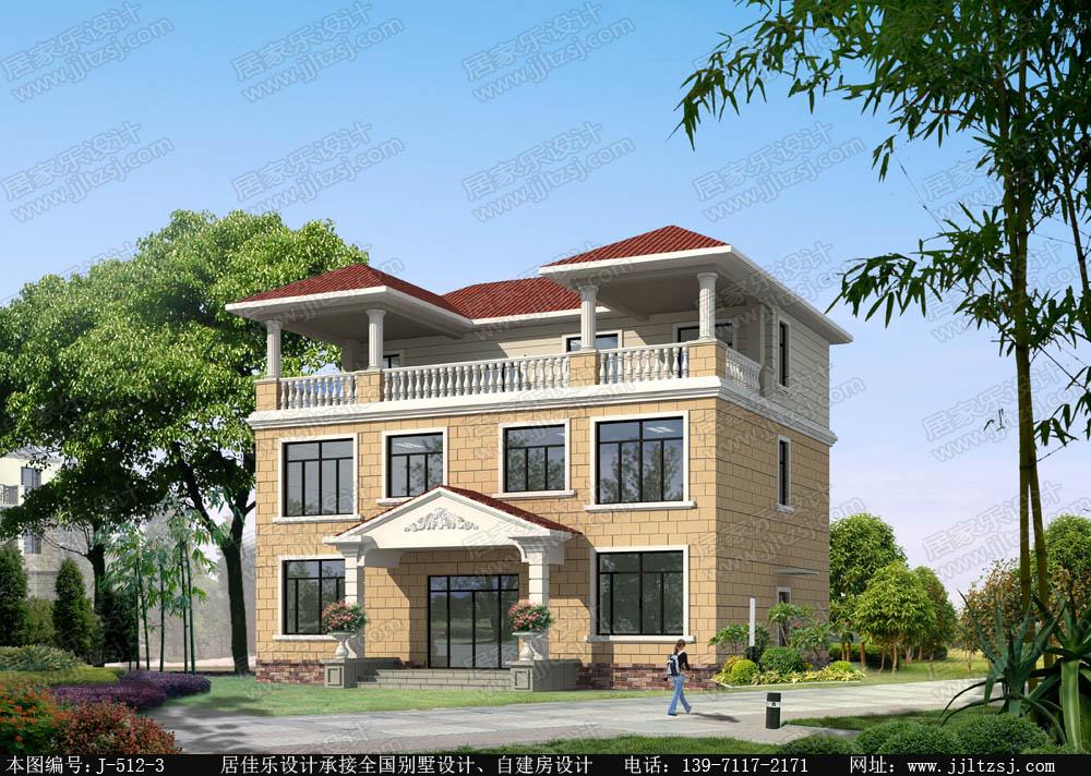 150平米三层自建房设计图,13.84x11.89米,23-36万