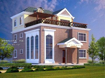新农村三层自建房全套别墅设计施工图(带屋顶花园)